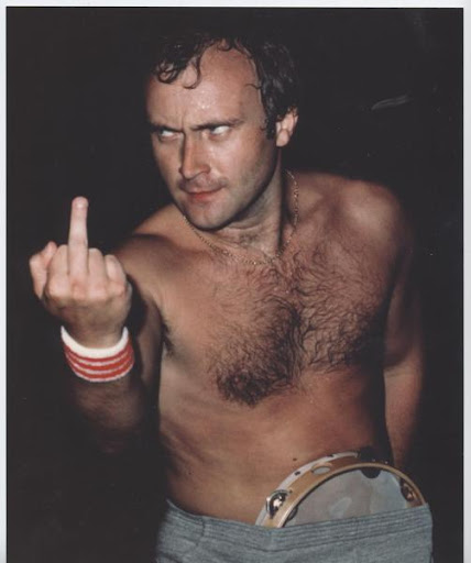 Phil Collins is angry with us.