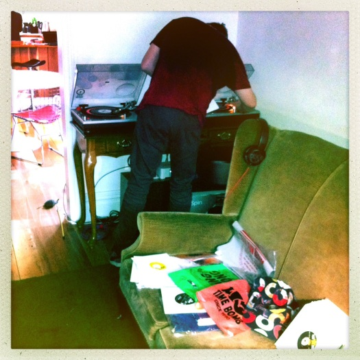 DJ Butcher aka Deano von Lounge trims the cuts