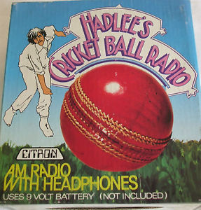 Richard Hadlee's cricket ball radio.